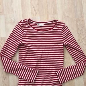 Kids red and white stripe long sleeve tee!